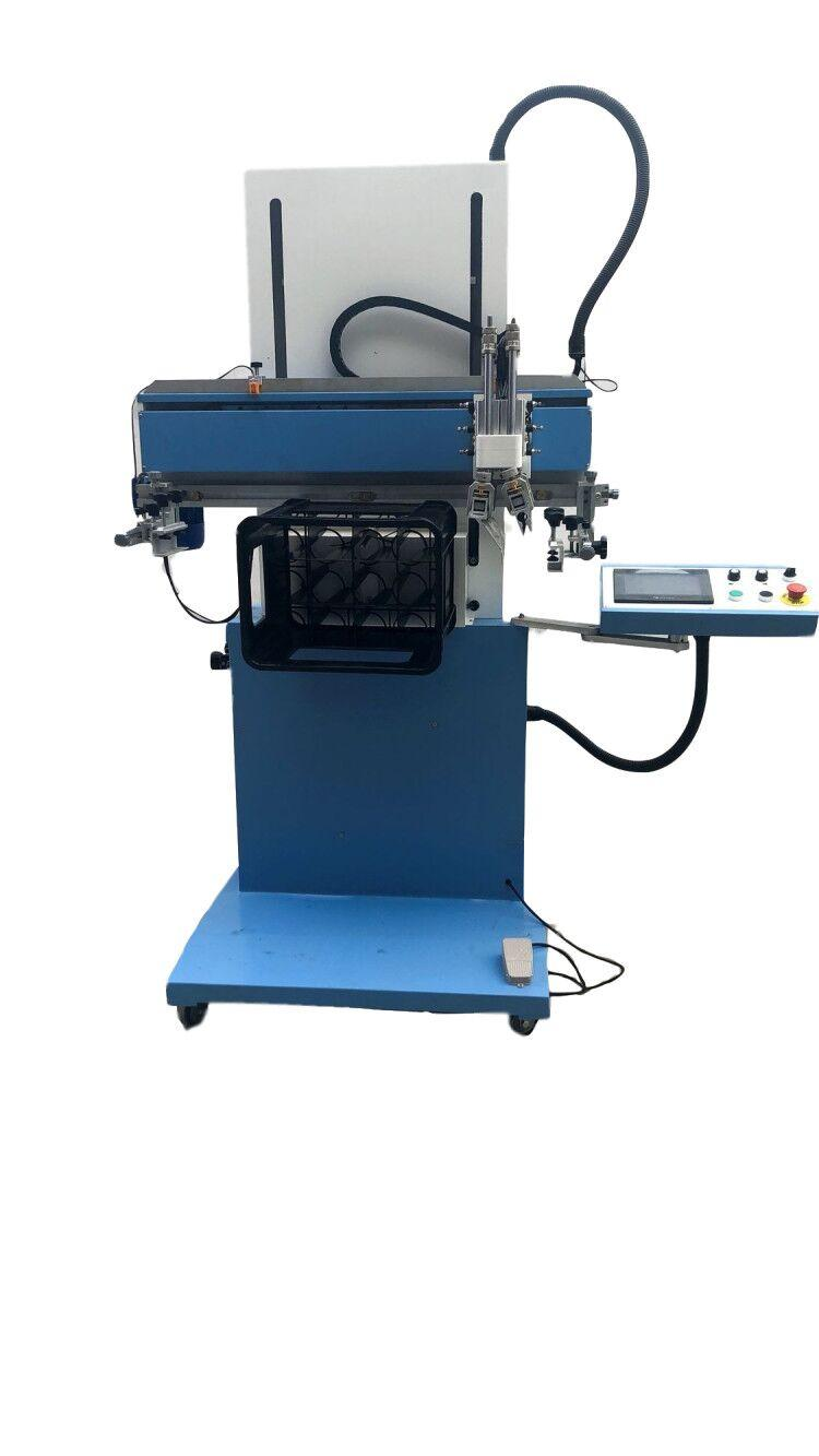 Flatbed Screen Printing Machine with rotary system for plastic box 2