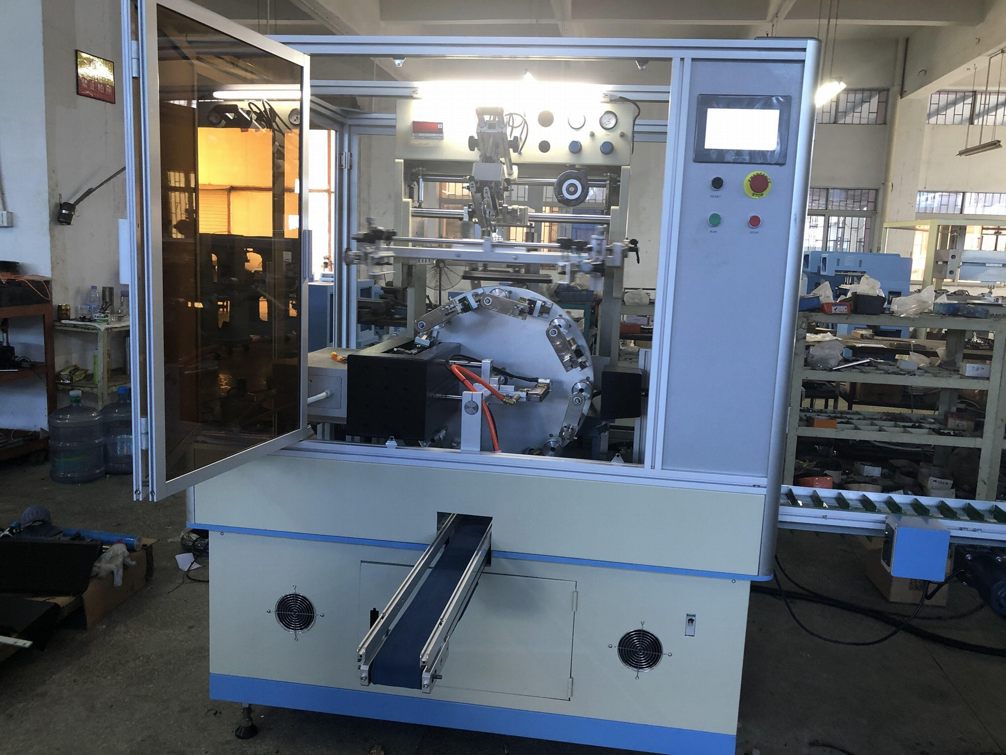 Glass bottle one color automatic UV screen printer