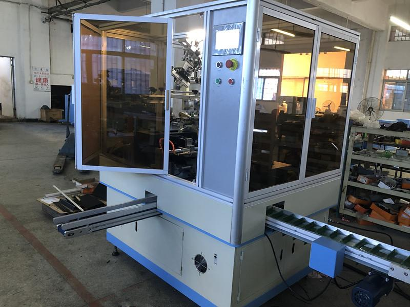 Glass bottle one color automatic UV screen printer 5