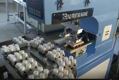 雙色輸送帶油盅移印機