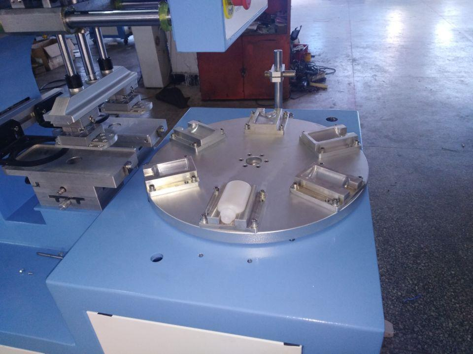 PLC 2 color pad printing machine with 6 station  7