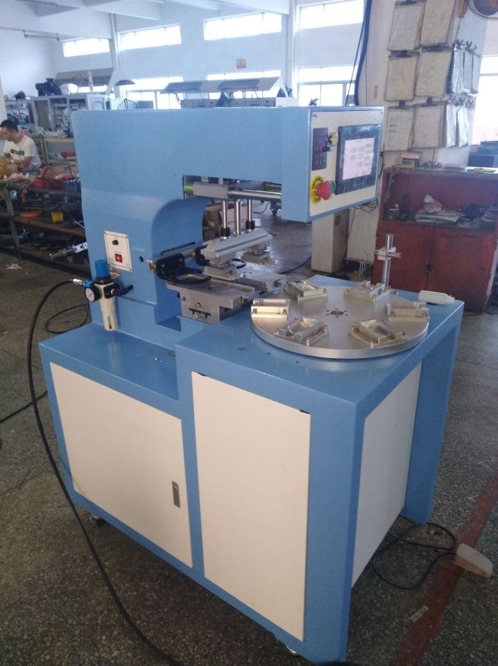 PLC 2 color pad printing machine with 6 station  2