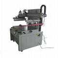 Flatprecision screen printing machine with vacuum table