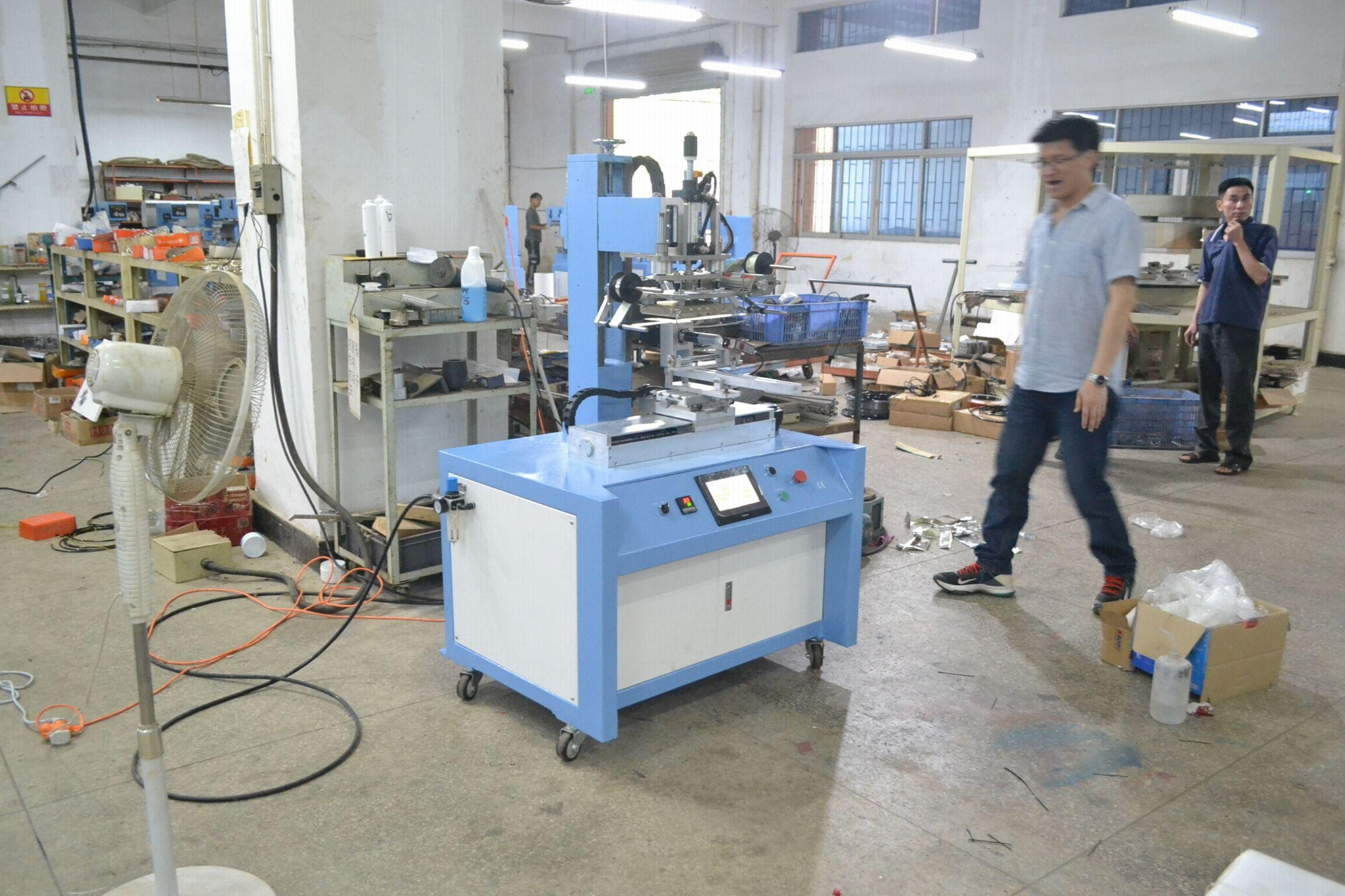 PLC Control Servo Positioning Hot Stamping Machine 6