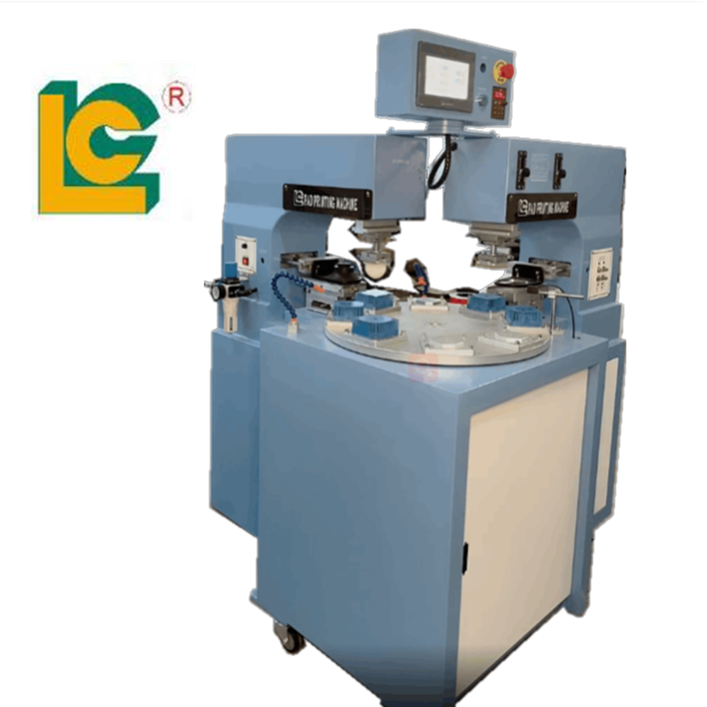 2 Colors 8 Stations Conveyor Sealed Cup Pad Printing Machine  1