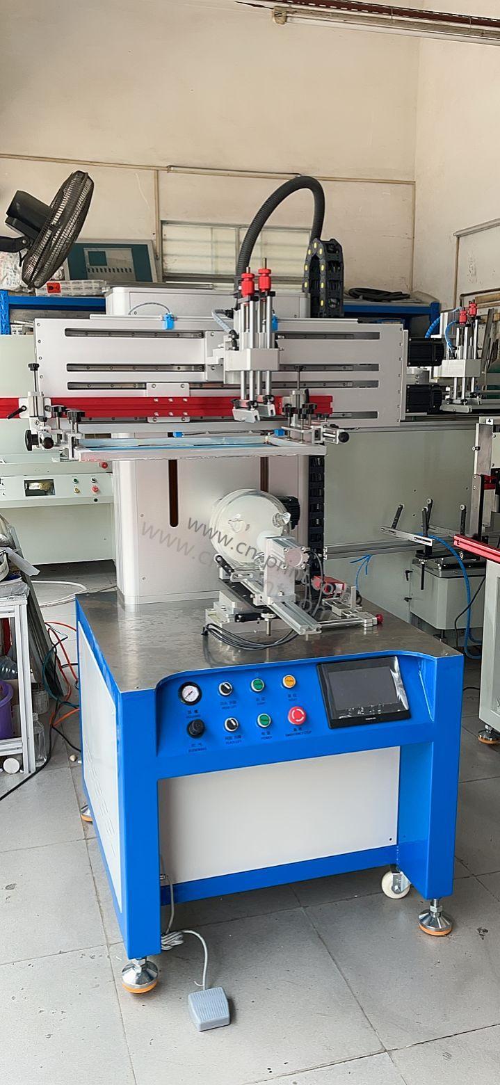 CNC servo special-shaped bottle screen printing machine 2