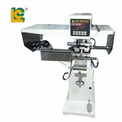 pad shuttle garment neck label pad printing machine with pad cleaning system