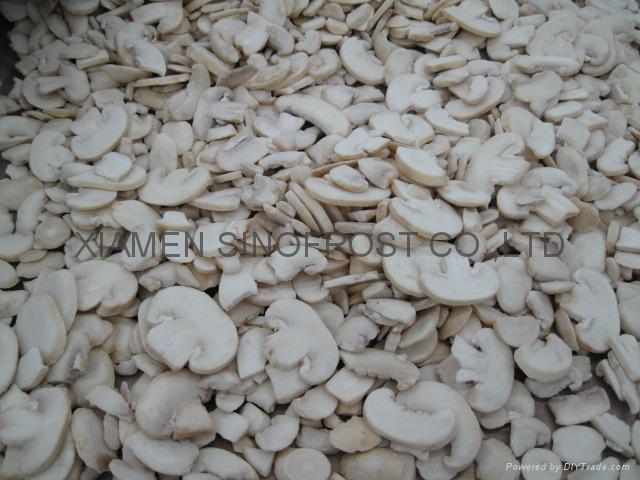 IQF champignon mushrooms slices,IQF sliced champignon mushrooms,frozen mushrooms 1