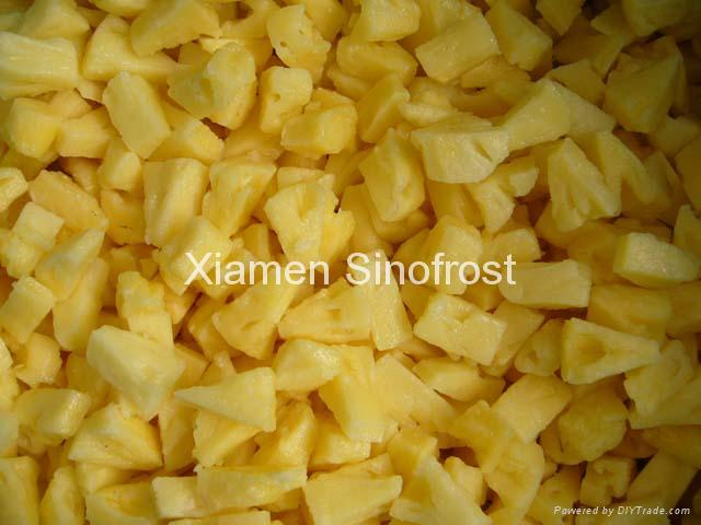 IQF pineapples ( tidbits/chunks/diced),Frozen pineapples (tidbits/chunks/diced) 1