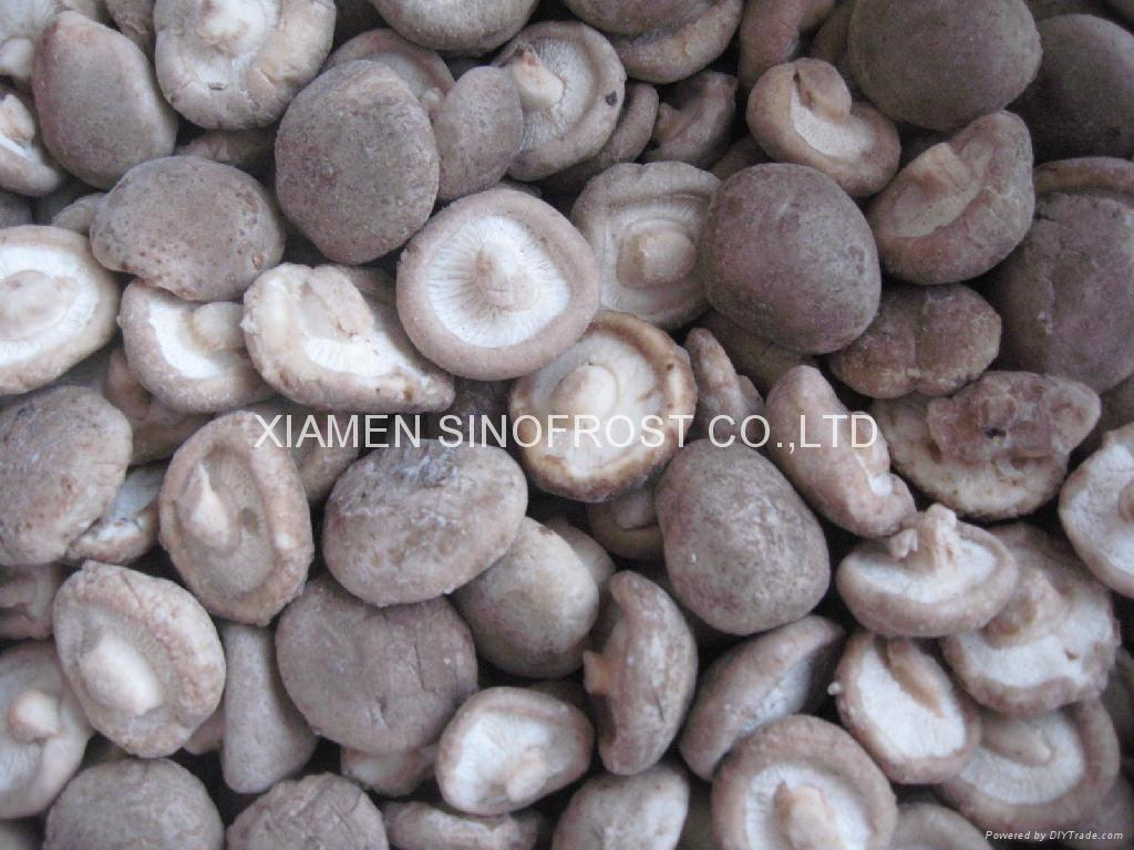 IQF shiitakes,Frozen shiitakes,wholes/slices/cuts