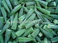 IQF whole okra,IQF cut okra,IQF sliced