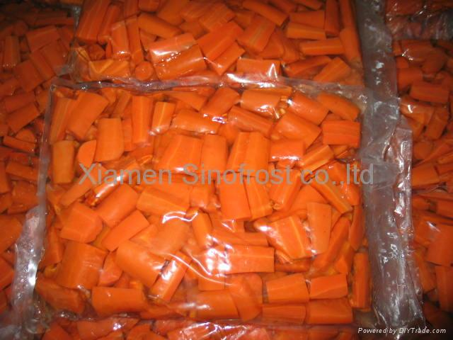 IQF Carrots, Frozen Carrots ,strips/diced/cuts/crinkle slices 2