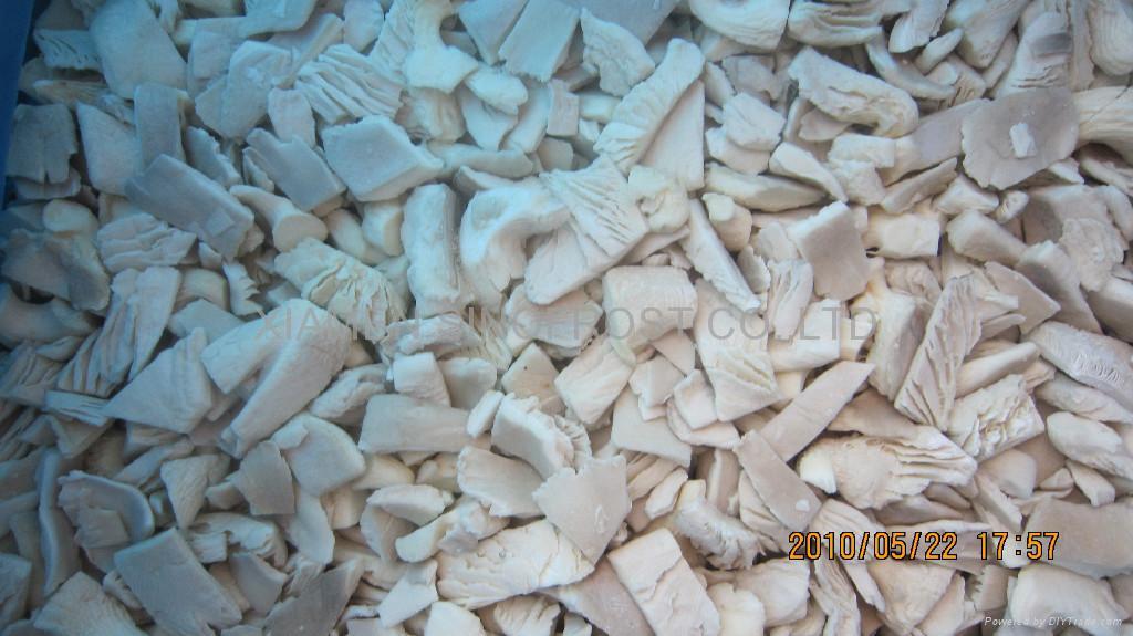 Frozen oyster mushrooms,IQF oyster mushrooms,sliced/cuts 1