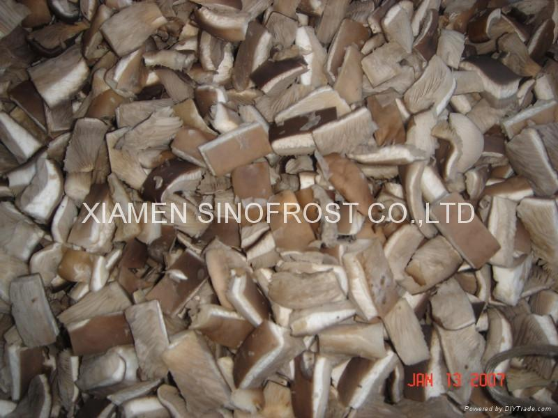Frozen oyster mushrooms,IQF oyster mushrooms,sliced/cuts 4