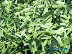 盤凍青梗菜段,冷凍青梗菜段