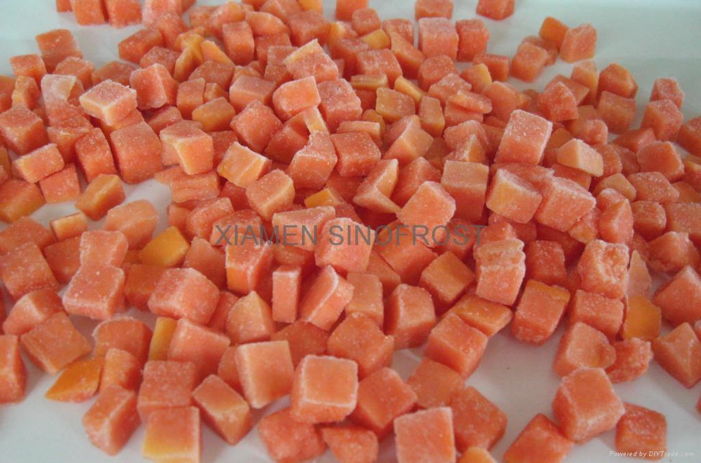 IQF diced papaya,Frozen diced papaya 1