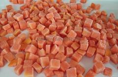 IQF diced papaya,Frozen diced papaya