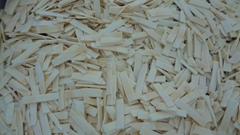 IQF bamboo shoots,strips/slices ,Frozen bamboo shoots strips/slices