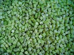 IQF diced kiwi,Frozen diced kiwi,IQF Kiwi dices,Frozen Kiwi dices