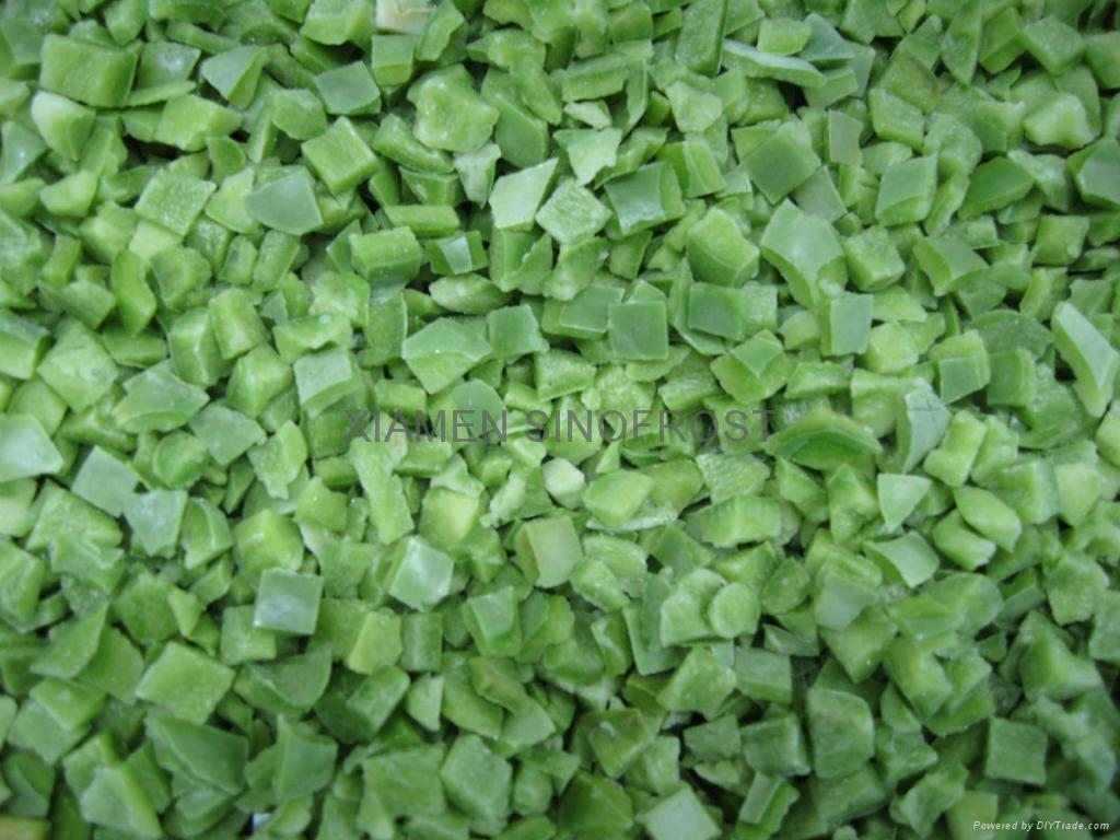 IQF Green Peppers Dices,Frozen Green Peppers Dices 2