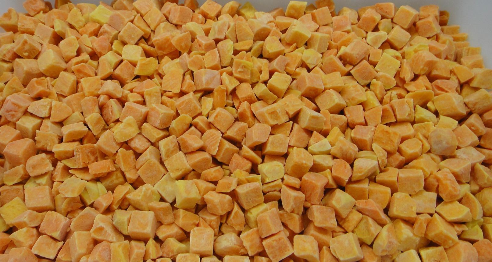 IQF Sweet Potato Dices,Frozen Sweet Potato Dices,IQF Cut Sweet Potato 8