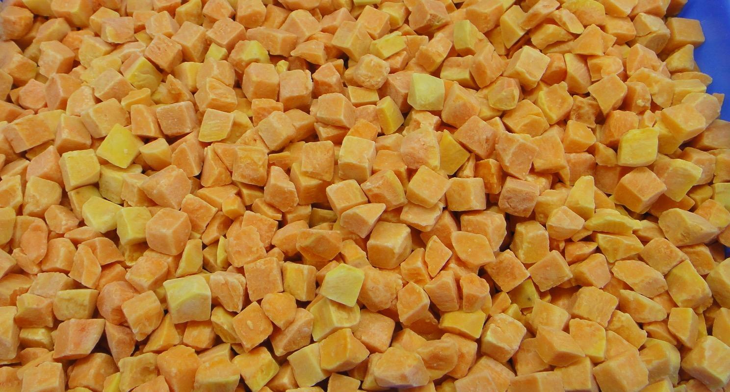 IQF Sweet Potato Dices,Frozen Sweet Potato Dices,IQF Cut Sweet Potato 3