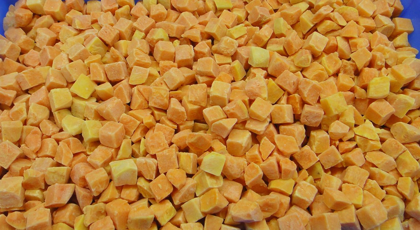 IQF Sweet Potato Dices,Frozen Sweet Potato Dices,IQF Cut Sweet Potato 2
