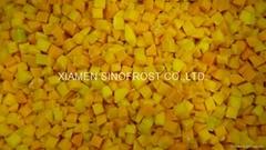 IQF diced pumpkin,Frozen pumpkin dices,BQF pumpkin puree,Frozen cut pumpkin