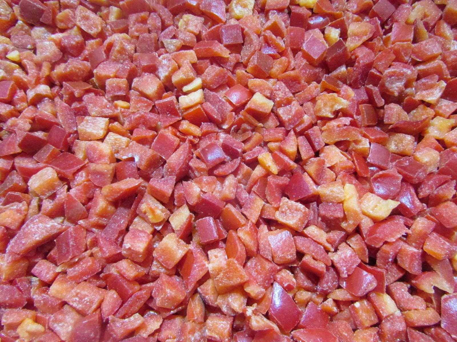 IQF Red Peppers Dices,Frozen Red Pepper Dices,IQF Red Pepper Cubes 5