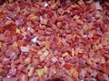 IQF Red Peppers Dices,Frozen Red Pepper Dices,IQF Red Pepper Cubes 7