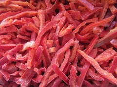 IQF Red Pepper Strips,Frozen Red Peppers Strips,IQF Sliced Red Peppers