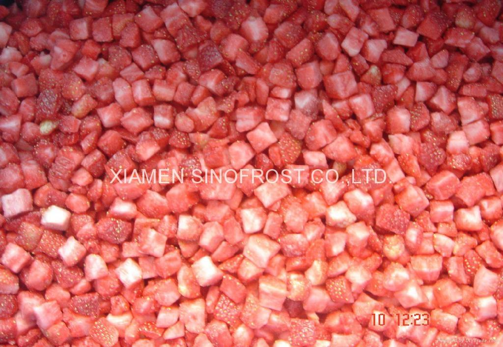 IQF Diced Strawberries,Frozen Strawberry Dices,IQF Sliced Strawberries 5