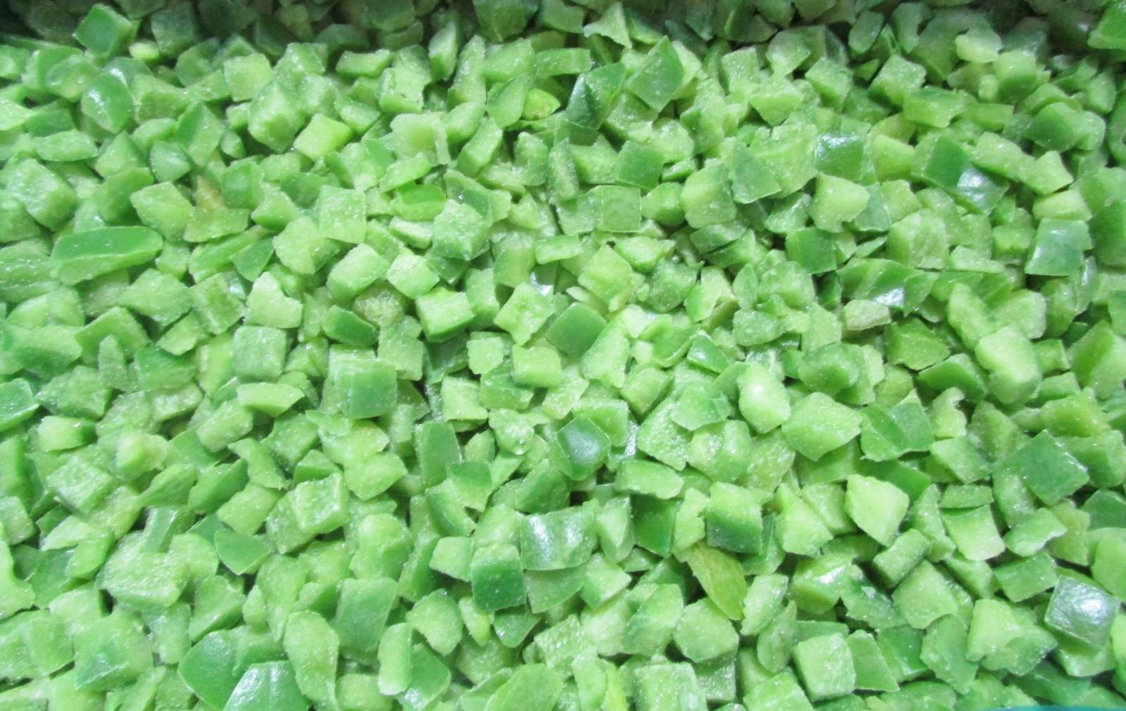 IQF Green Peppers Dices,Frozen Green Peppers Dices