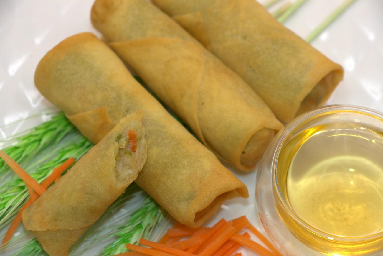 Vegetable Spring Roll,Frozen Dim Sum,Asian Food,Oriental Food,Snacks,Party Food 1