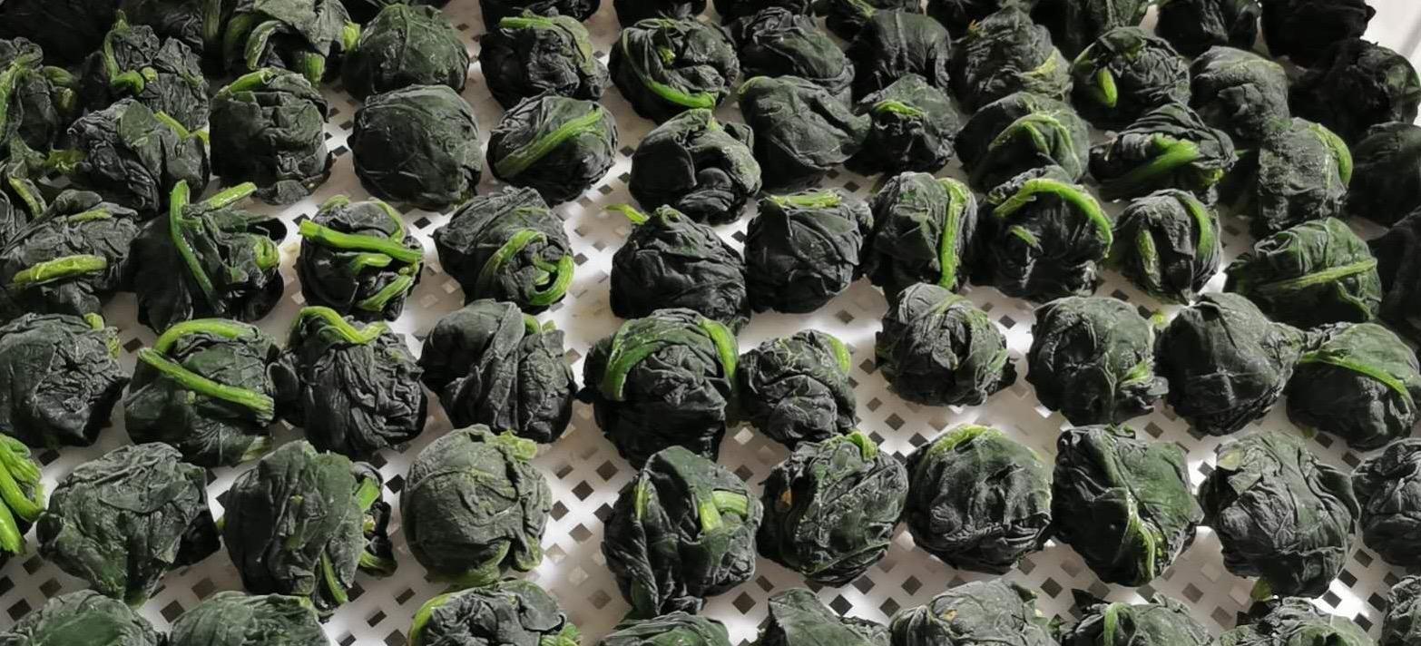 單凍菠菜段,盤凍菠菜段,冷凍菠菜葉球 5