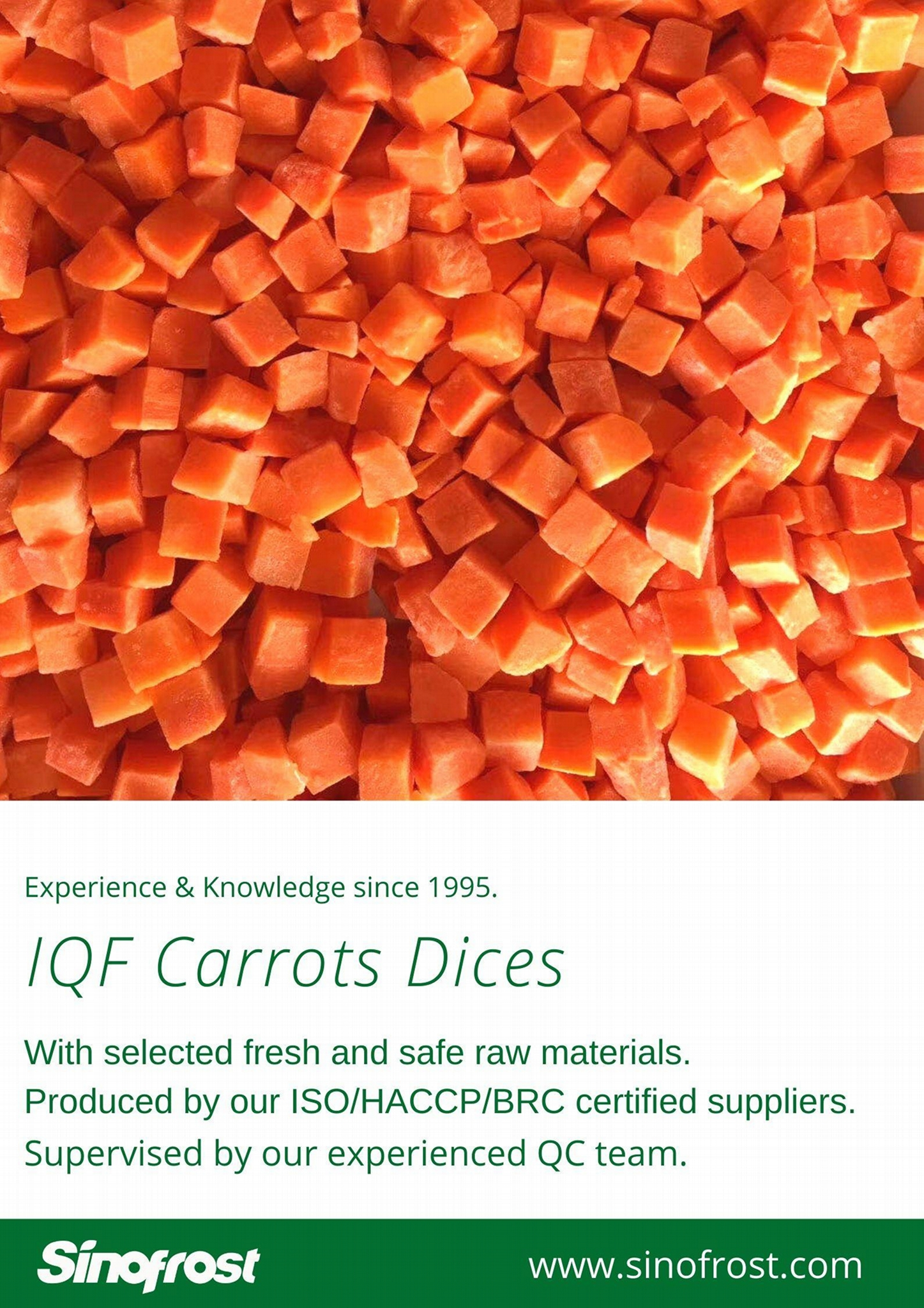 IQF Carrots, Frozen Carrots ,strips/diced/cuts/crinkle slices 7