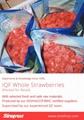 Frozen Strawberries in Sugar ,Frozen Strawberries with Sugar,slices/wholes 18