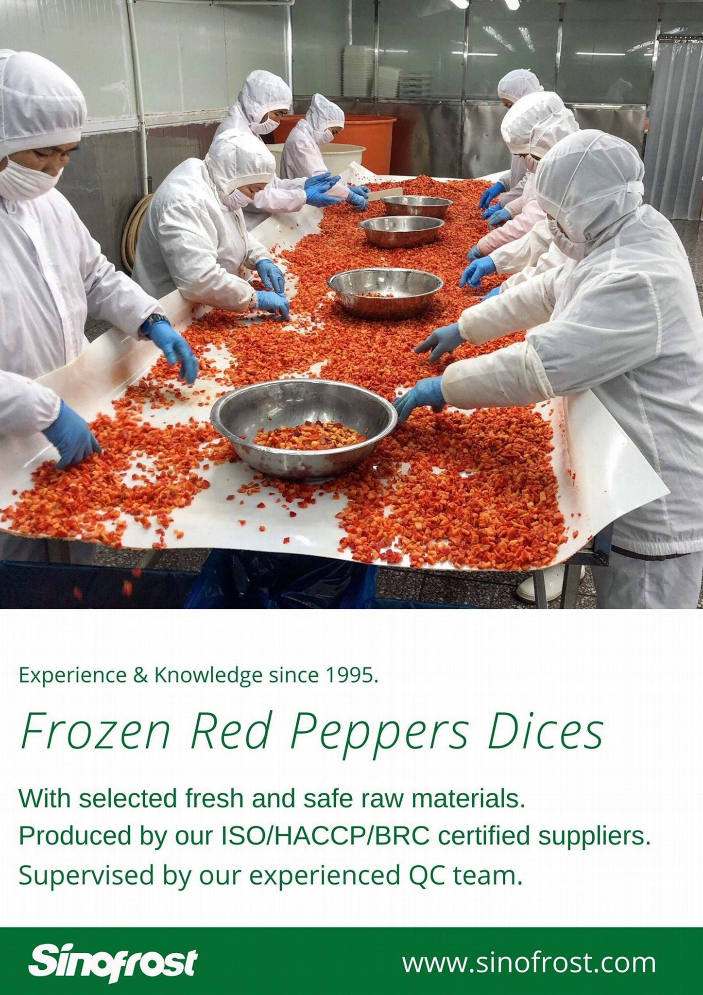 冷凍紅椒,速凍紅椒,絲/丁 10