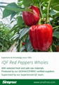 IQF Red Peppers Dices,Frozen Red Pepper Dices,IQF Red Pepper Cubes 20