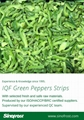 IQF Green Pepper Strips,Frozen Green Peppers Strips,IQF Sliced Green Peppers