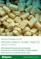 2020 New crop IQF garlic cloves,diced garlic,sliced garlic,frozen garlic puree