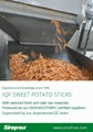 IQF Sweet Potato Sticks,Frozen Sweet Potato Sticks,steamed/blanched