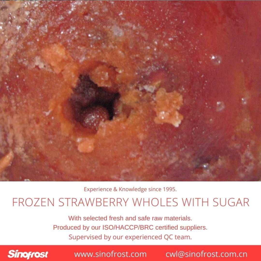 Frozen Strawberries in Sugar ,Frozen Strawberries with Sugar,slices/wholes 14