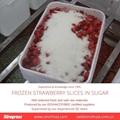 Frozen Strawberries in Sugar ,Frozen Strawberries with Sugar,slices/wholes 7