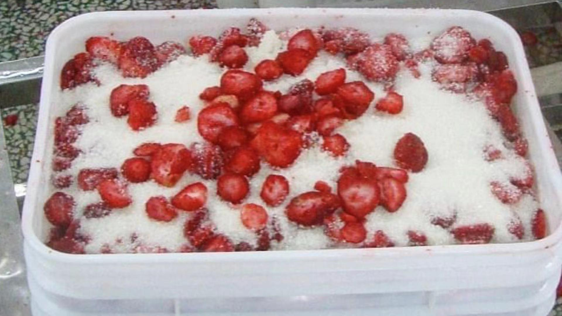 Frozen Strawberries in Sugar ,Frozen Strawberries with Sugar,slices/wholes