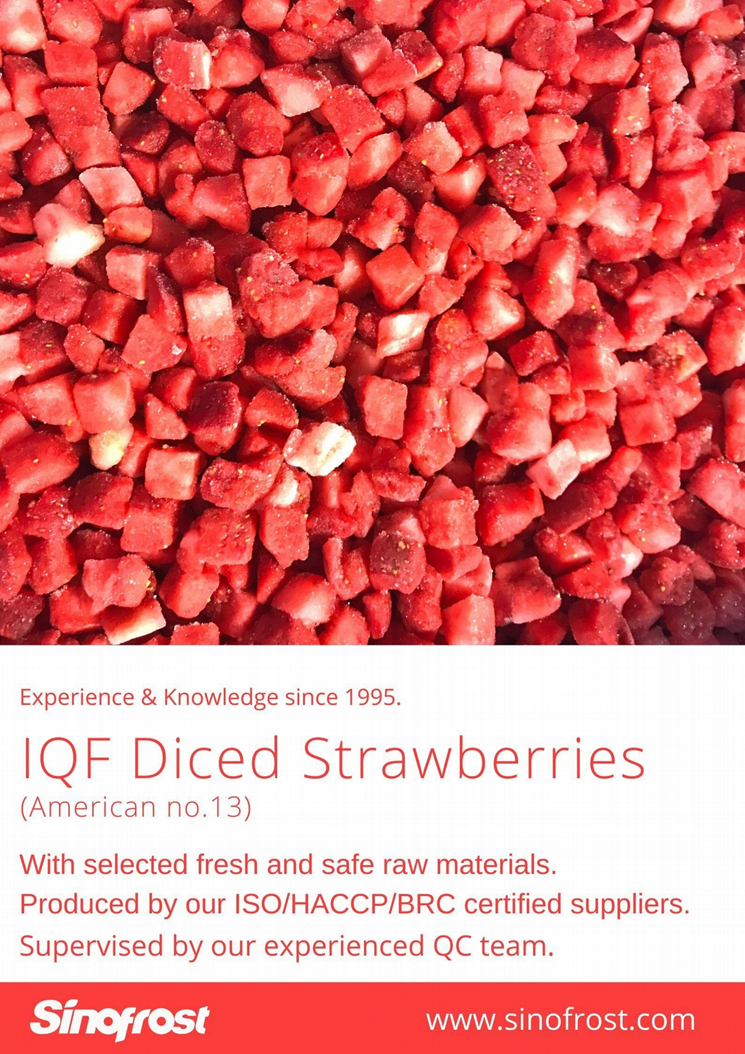 IQF Diced Strawberries,Frozen Strawberry Dices,IQF Sliced Strawberries 14