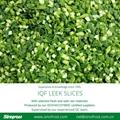 IQF Leek Slices,Frozen Leek Slices,IQF Leek Cuts,IQF Chopped Leeks