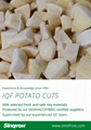 IQF Potato Cuts,Frozen Potato Cuts,IQF French Fries,IQF Potato Chips