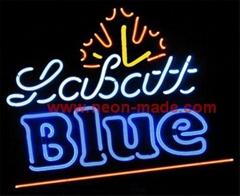 labit blue neon beer sign
