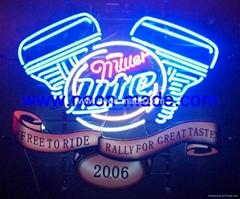 MOTOR free taste miller lite sign